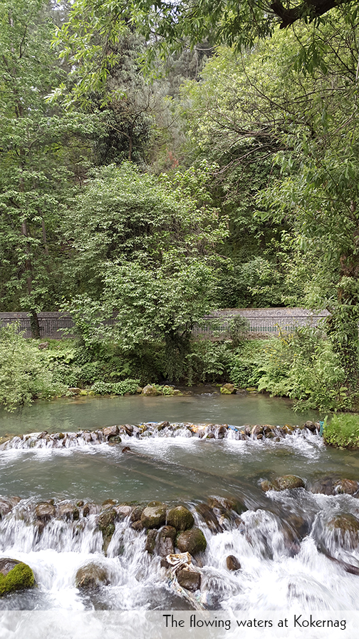flowing waters at Kokernag