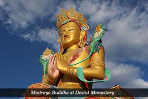 Maitreya Buddha at Deskit Monastery