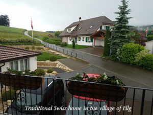 Traditional Swiss home in the village of Ellg