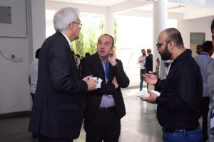Klaus Pendl and Prof Laurent engage in a conversation at Developers event in IIIT Hyderabad