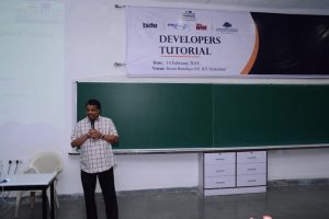 PJ Narayanan speaks at Developers tutorial in IIIT Hyderabad