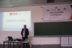Prof Samir speaks at Developers tutorial in IIIT Hyderabad