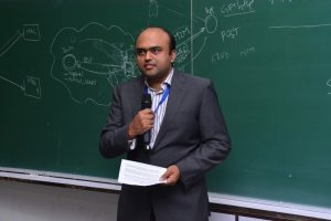 Sachin Chaudhari speaks at Developers tutorial in IIIT Hyderabad