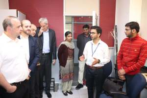 Thierry, Prof Samir, Prof Laurent and Klaus Pendl interact with participants at Developers tutorial in Panjab UniversityJPG