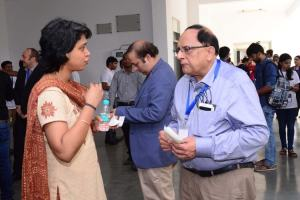 Vijay Madan engages in a conversation at Developers tutorial in IIIT Hyderabad