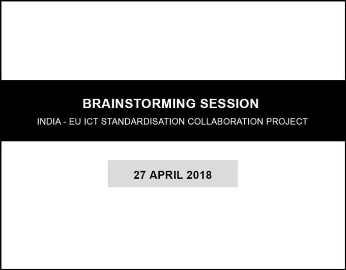 Brainstorming session - India EU-ICT project-3