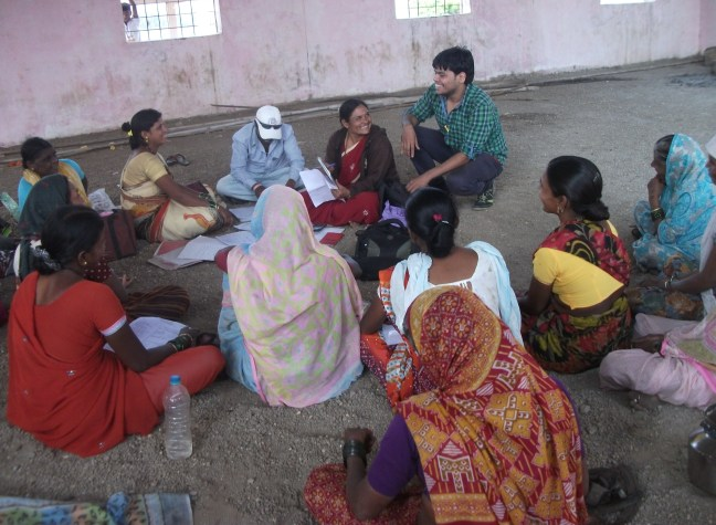 In a self help group meeting at Chaitanya, Rajgurunagar - Pune
