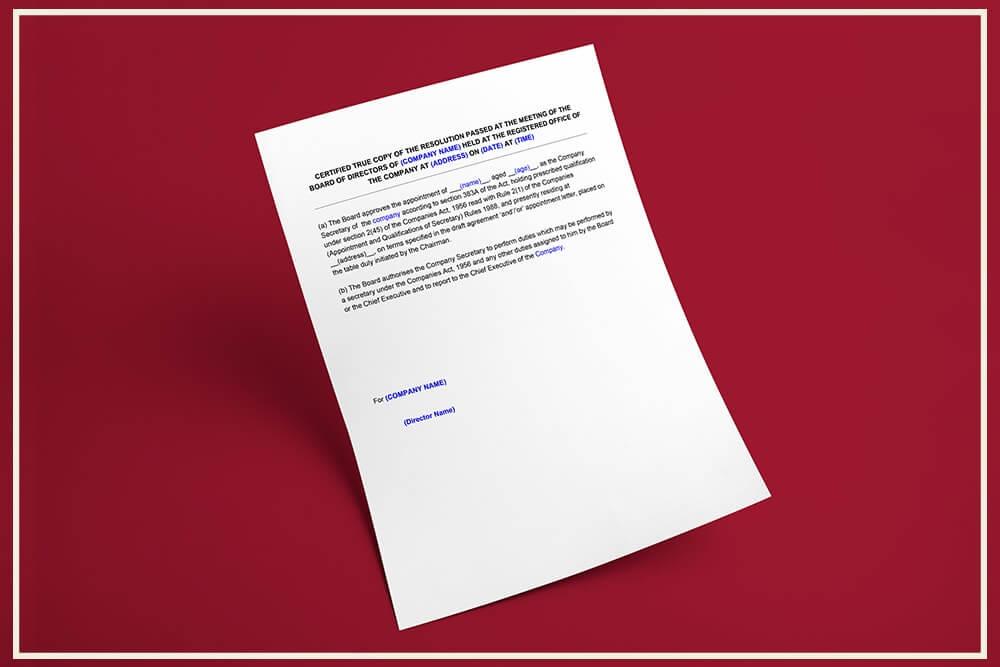 FSSAI Nomination Form