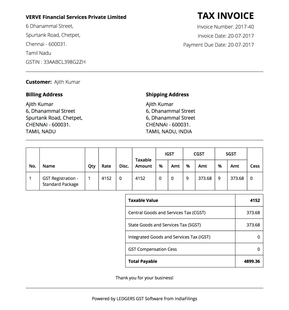 GST Invoice Comprehensive Guide With Invoice Formats