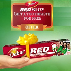 Free Dabur Red Toothpaste Gift Offer First 25000 Participants
