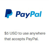 Free $5 Paypal Credit for a Small Paypal Demo Free Coupon