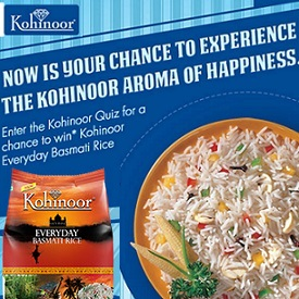 Kohinoor Basmati Rice Contest Win Kohinoor Everyday Basmati Rice