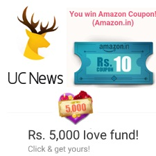 UC News App Refer and Earn Contest Free Amazon Gift Card