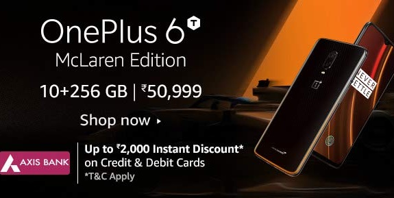 OnePlus 6T McLaren Edition Offer