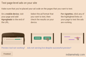 test page level ads on your site