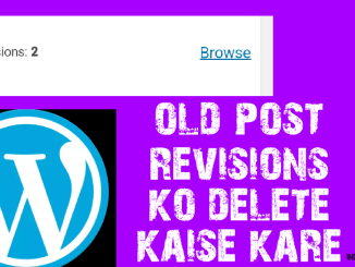 old post revisions delete kaise kare