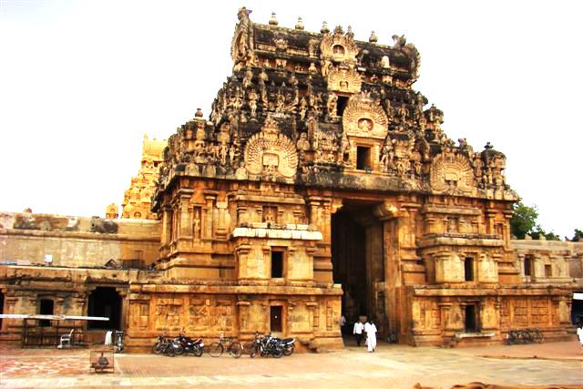 Tanjore Big Temple Entrance Gopurams India Travel Forum