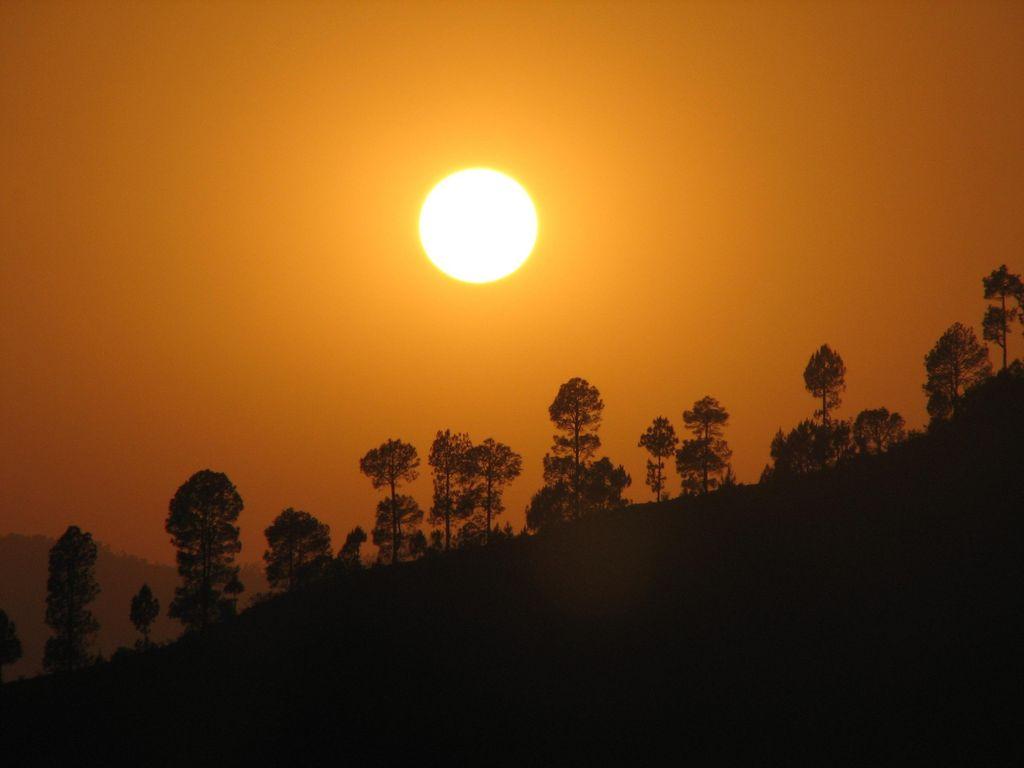 Sunset near my village in Uttaranchal  India Travel Forum