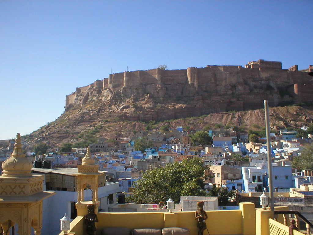 India Travel Pictures View Fort Rooftop Haveli Guesthouse