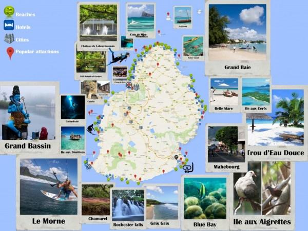 Mauritius Map Road Map PDF Indian Ocean