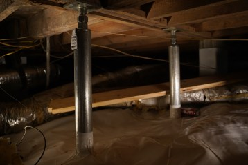 Intellijacks installed in crawl space