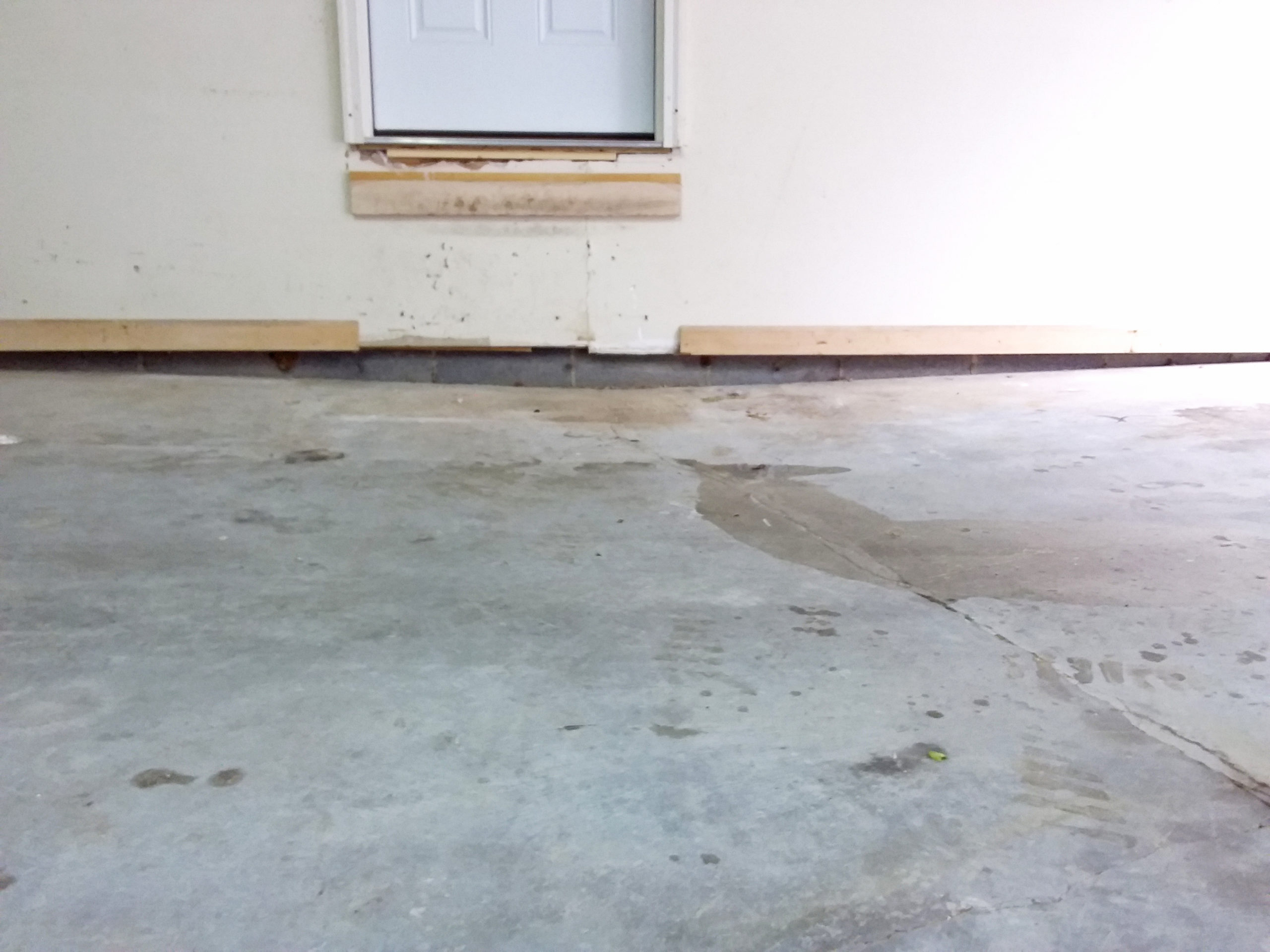 Concrete Leveling with wall gap before