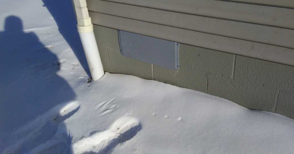 downspout icing up