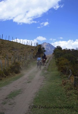 Galloping towards the volcanoes....!