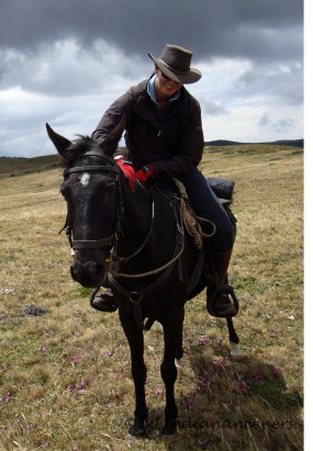 Myself and Cyrillo after enjoying some nice canters in the open plains of the paramo.