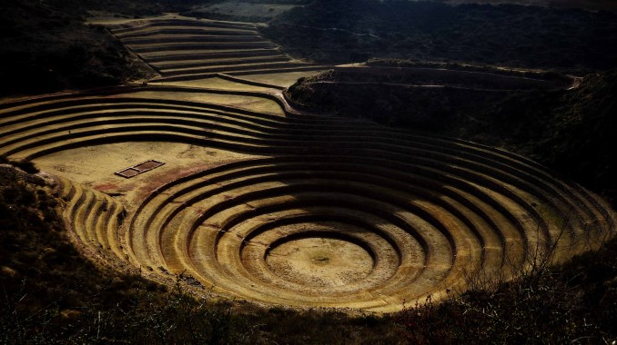 The agricultural terraces of Moray were scientists discovered climatic changes of up to 15 degrees Celsius between terraces, allowing growth of a variety of crops in the many different ecological zones present at this single site.