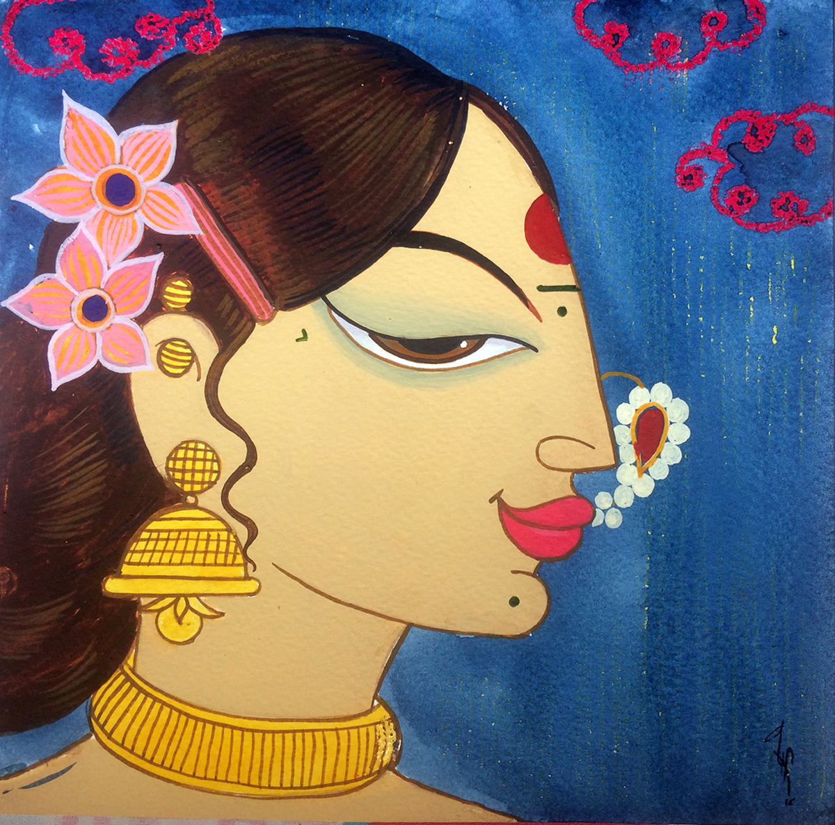 Abhijit Banerjee Buy Painting Face 31 Artwork No 10002 by Indian Artist ...