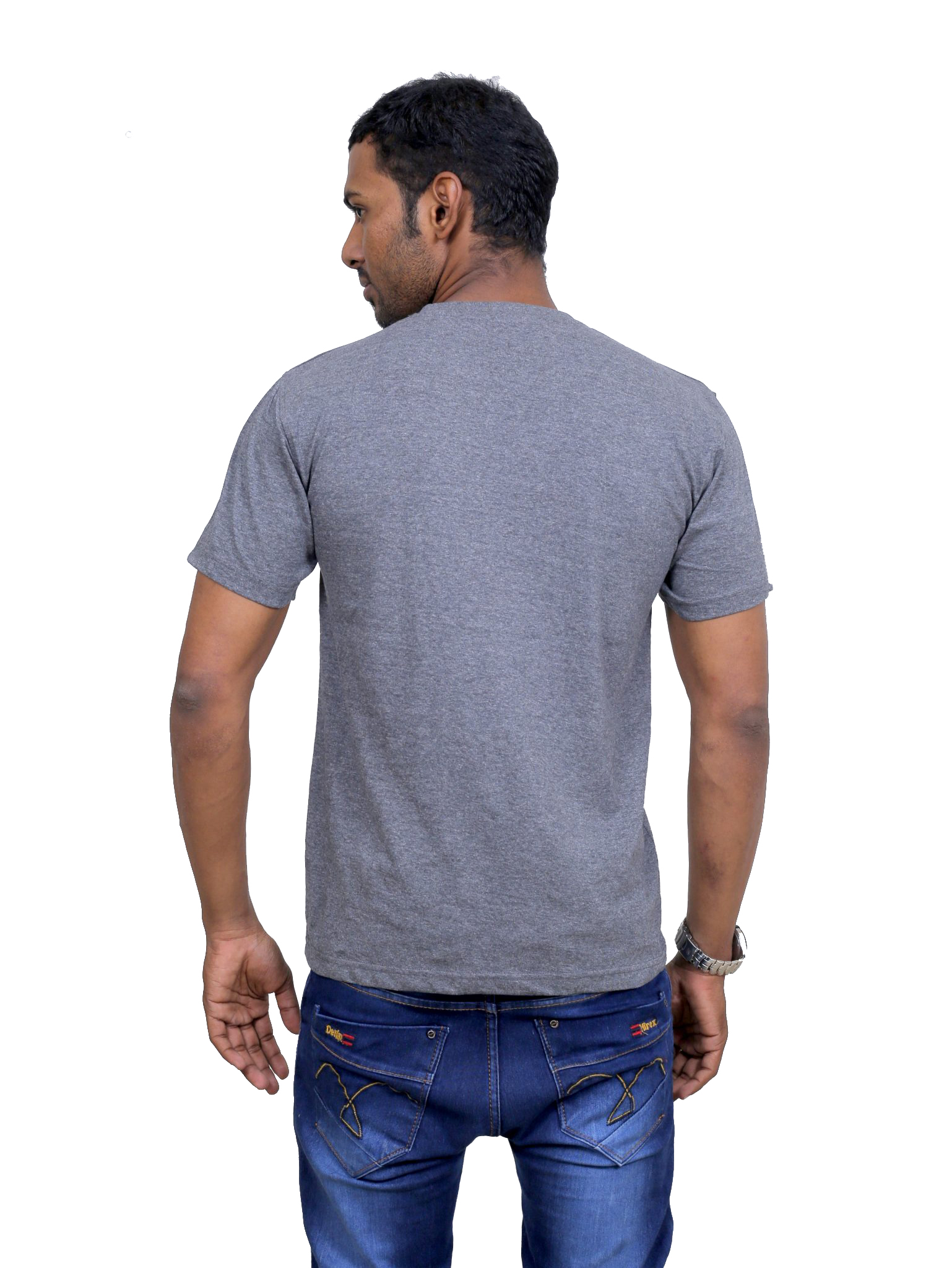 Indian Aurochs Men Naked Upholstery Yellow Round Neck T