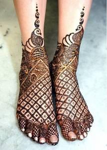 Bridal Mehndi Designs for Feet