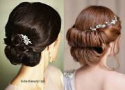 bridal hairstyles messy bun fade