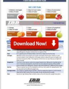 Download the gm diet plan pdf also days best indian vegetarian to lose weight rh indianbodybuilding