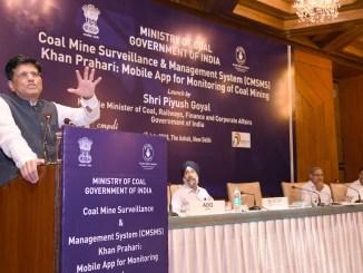 Piyush Goyal launches CMSMS & Khan Prahari App