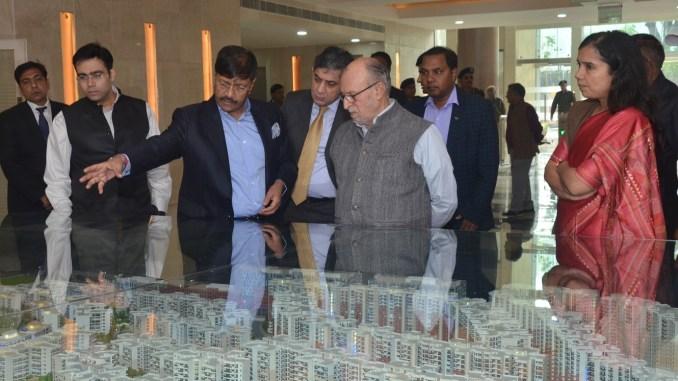 Governor, Delhi visits NBCC East Kidwai Nagar Project