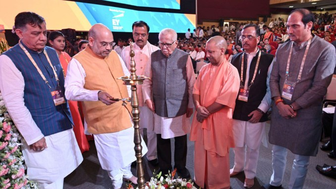 Amit Shah inaugurates the Second Ground Breaking Ceremony of the UP Investors Summit