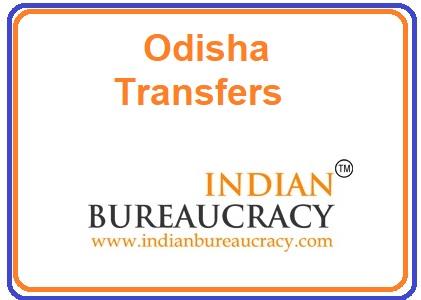 IAS Odisha Govt Transfers