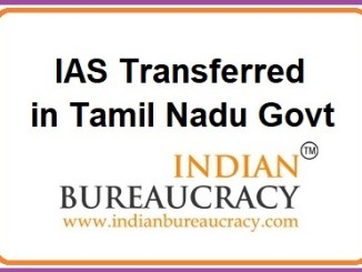 IAS Tamil Nadu Transferred