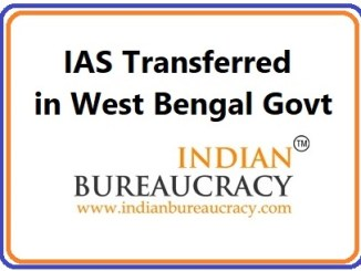 IAS West Bengal Transfers