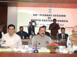 68thPlenary session of the North Eastern Council (NEC)