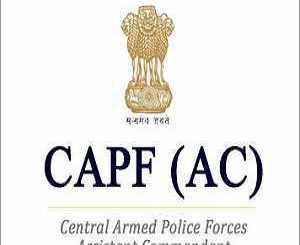 CAPF (ACs) CAPF (ACs) Examination, 2019Examination, 2019