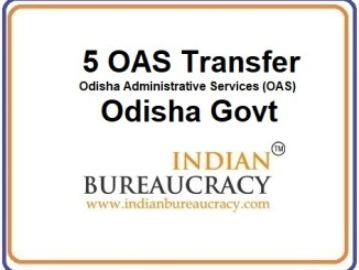 5 OAS Transfer in Odisha Govt