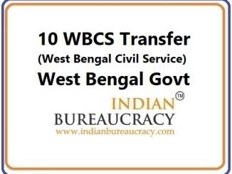 10 WBCS Tranfer in West Bengal Govt