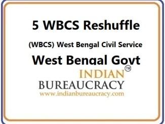 5 WBCS transfer in West Bengal Govt