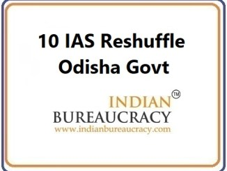 10 IAS Transfer in Odisha Govt