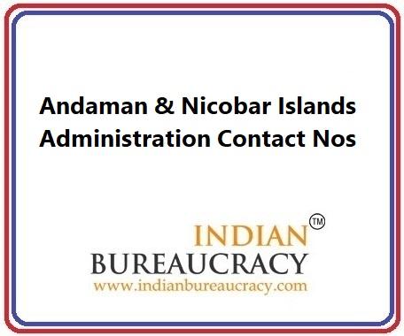 Andaman & Nicobar Islands Administration Contact Nos