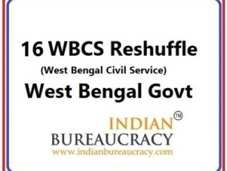 16 WBCS Transfer in West Bengal Govt