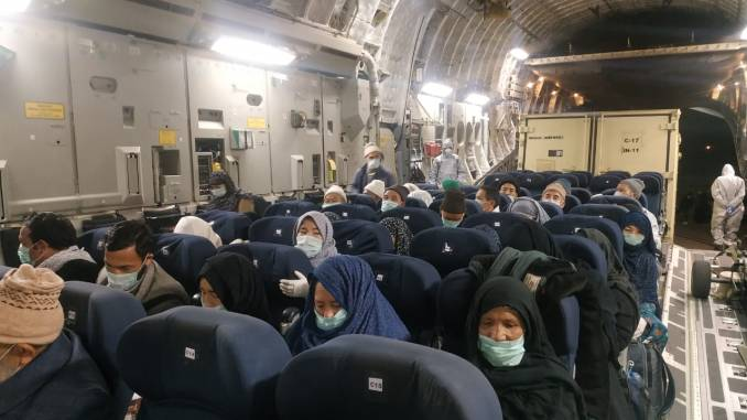 Assistance to Indian Citizens for Quarantine at air Force Station Hindan